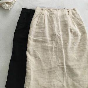 Banana Republic Dresses & Skirts - Banana sz 4 linen pencil skirts