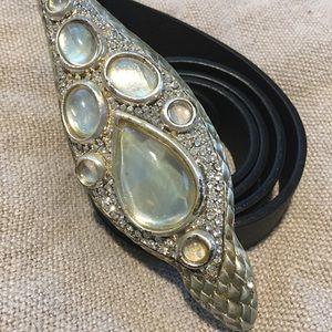 Roberto Cavalli Accessories - Roberto Cavalli Silver Snake Belt