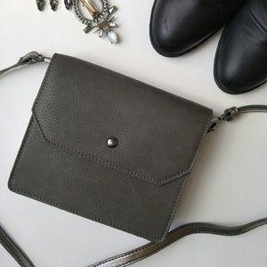 Handbags - Gray and pewter mini crossbody bag