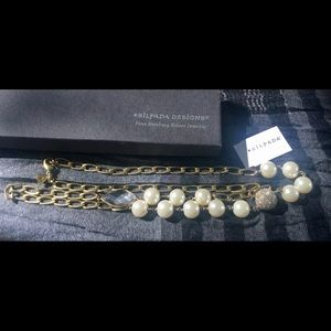 SILPADA🔥 Glitz And Pearls Necklace NWT AND BOX.