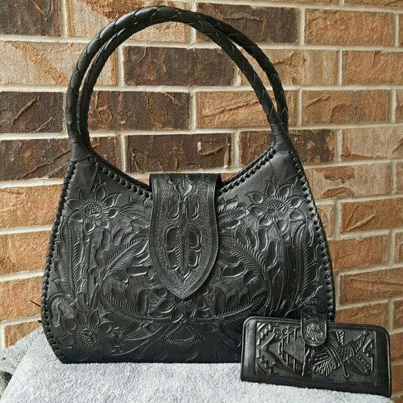 13% off Alejandro Yeo Handbags - Oaxaca Unique leather hand tooled ...