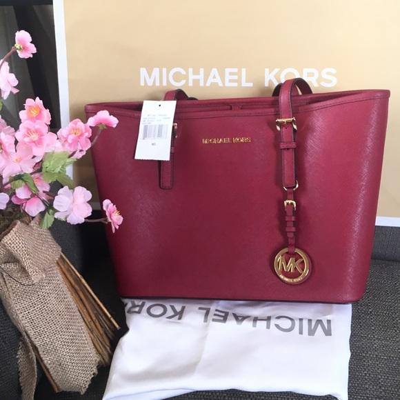 15d02afb7323 Michael Kors Bags | Mk Travel Totecherry Color | Poshmark