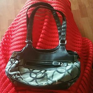 Handbags - Grey and Black Purse