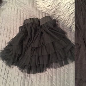 Black layered tutu skirt