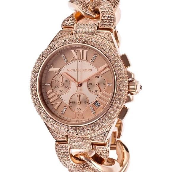 8ea09900f246 Michael Kors Rose Gold Camille Watch mk3196. M 58923acf713fdea727011bb6