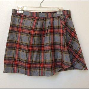 J.crew plaid wool skirt