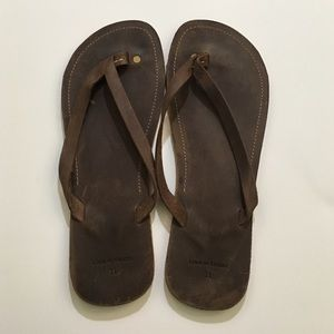 Line of Trade Other - SALE! EUC Leather Flip Flops