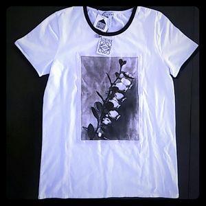 Loewe Tops - LOEWE Floral Print Ringer T-Shirt