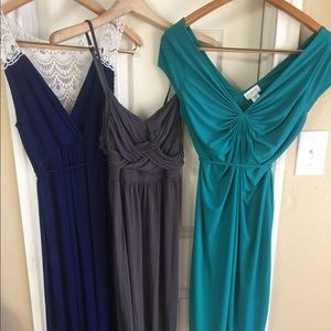 Three Motherhood Maternity Dresses - Size Small