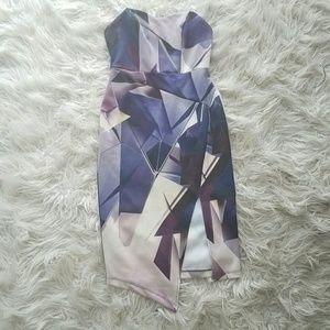 ASOS strapless bodycon midi dress