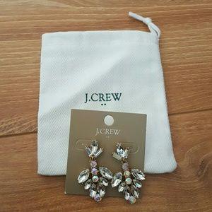 J. Crew Jewelry - J crew sparkly chandelier crystal earrings