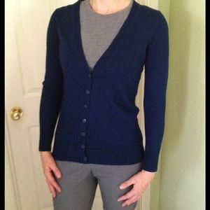 a.n.a Sweaters - 100% Merino wool dark blue cardigan