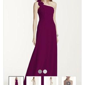 David's Bridal Dresses & Skirts - BRAND NEW Davids Bridal Floral Chiffon Dress/Prom