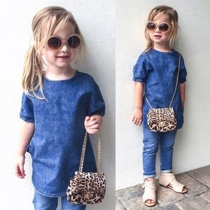 Stella McCartney Kids denim tunic top