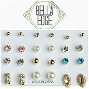 Bella Edge Jewelry - Assorted pearl and stone post earrings