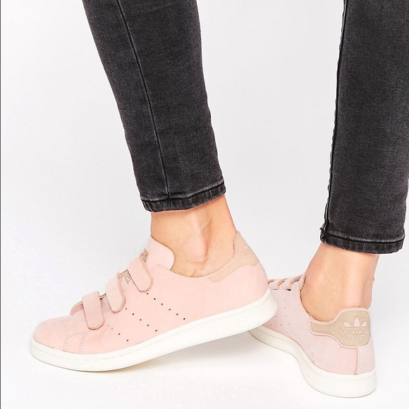 Adidas Stan Smith Vapour Pink Velcro Sneakers