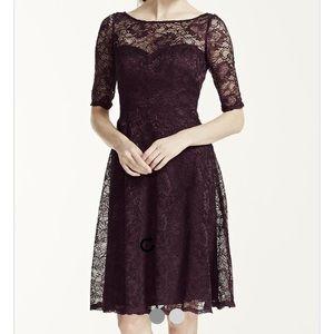 David's Bridal Dresses & Skirts - BRAND NEW David's Bridal Plum Lace Dress/Prom