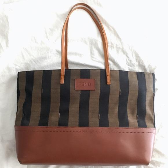 b6341cdcb6 Fendi Handbags - Fendi Pequin Roll Tote Handbag