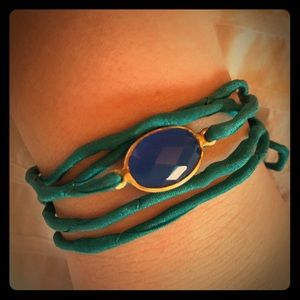Jewelry - NWOT Turquoise and Blue Wrap Bracelet