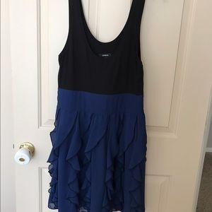 Express Dresses & Skirts - Express Tank Dress with Ruffled Bottom.