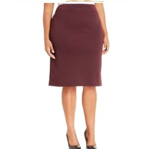 Style & Co Dresses & Skirts - Style Co. Plus Size Ponte-knit Pencil Sk Rhone 3x