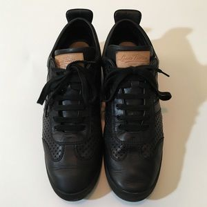 Louis Vuitton Other - SALE! Great Louis Vuitton Black Leather Sneakers