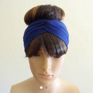 Beautiful Blue Head Wrap Headband