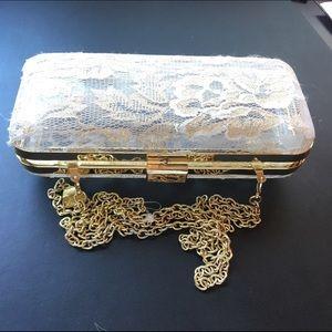 Betsey Johnson Handbags - Betsy Johnson Lace purse - like new -