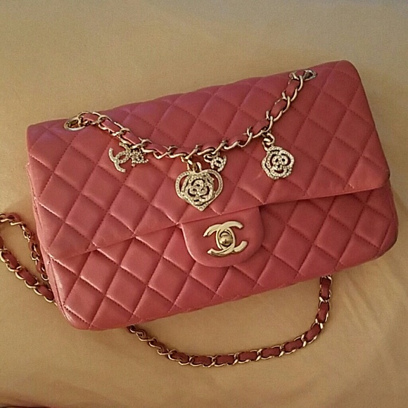 28f506dbceca CHANEL Handbags - Preloved Chanel Valentine Pink m/l Flap bag 2.55