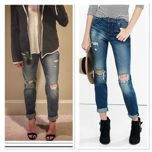 Express Women's Blue Distressed 90s Jean size 2