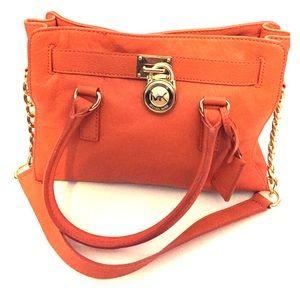 Michael Kors Handbags - Michael Kors Hamilton Leather Satchel