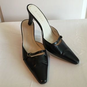 Ralph Lauren Black Leather Heels