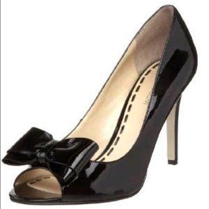 Enzo Angiolini Shoes - ***NWOT*** Enzo Angiolini peep-toe bow pumps