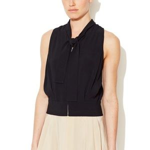 See by Chloe Bow Collar Zip Front Blouse