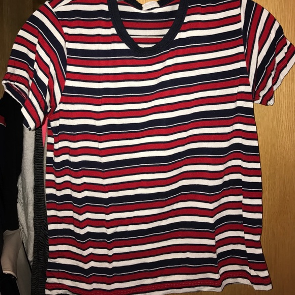 baab0d9cf8 Brandy Melville Tops - Brandy Melville blue white and red striped tee