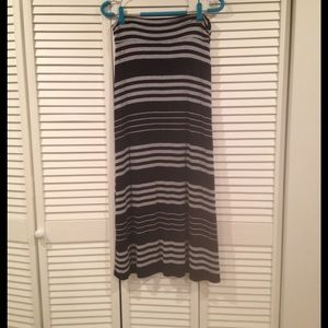 Striped maternity maxi skirt