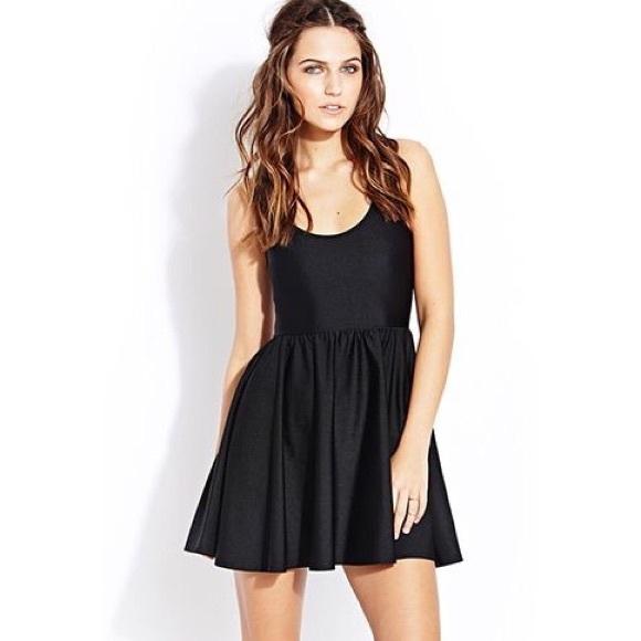 Urban Outfitters Dresses Forever 21 Black Halter Top Dress Skater