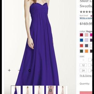 David's Bridal Dresses & Skirts - BRAND NEW David's Bridal Long Chiffon Dress/Prom