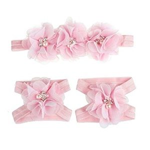 Other - Tonsee foot flower barefoot sandals + headband