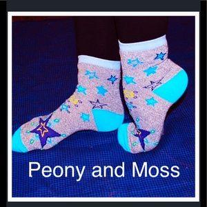 Peony and Moss Accessories - Peony & Moss Crew Socks in Constellation