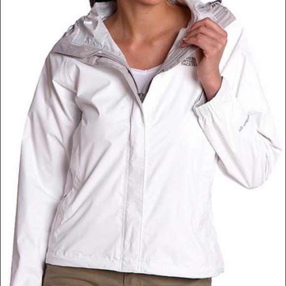 46432631f White Northface Rain Jacket