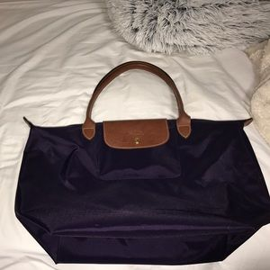 Longchamp Handbags - Dark Purple Longchamp Tote