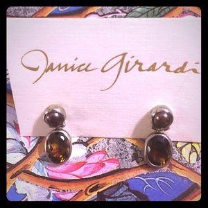 Janice Girardi Design Jewelry - Whisky Quartz Earrings