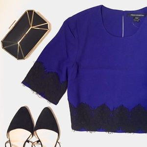 French Connection Tops - ❗️Lowest ❗️FC Cropped Lace Top