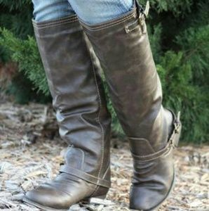 Outlaw Two Tone Taupe Riding Boot