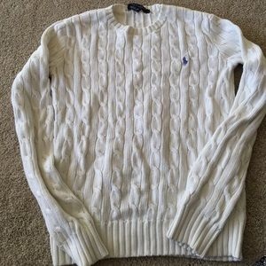 White Ralph Lauren cable knit sweater xs