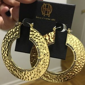House of Harlow gold hoops