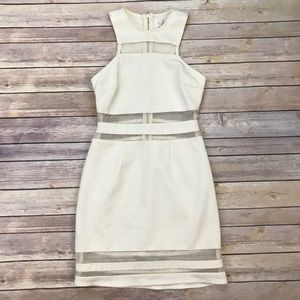 Shakuhachi Dresses & Skirts - Shakihachi Cream Sheet Panel Cut Out Dress