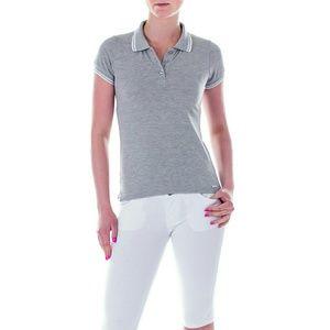 Mia Mia  Tops - Women or Junior Girl Polo Shirt, pk13102, Gray