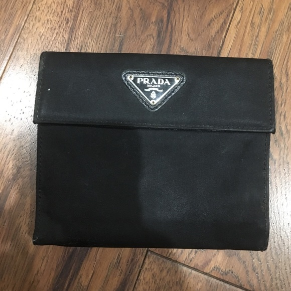 ef50009b7889 AUTHENTIC PRADA BLACK CANVAS WALLET. M_58926a6c2ba50af8dc0027eb